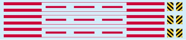 画像1: 【直販限定品 1/150】 モニ101牽引電車ゼブラ+ライン(初期塗装)デカール (1)