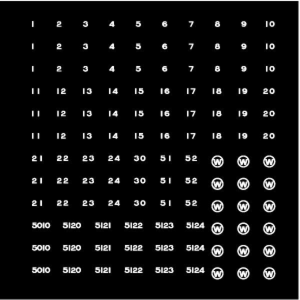 画像1: 【直販限定品 1/150】 江若車番インレタ(白) (1)