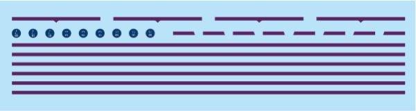 画像1: 【1/150】 上信電鉄ラインデカール(旧型車用紫帯) (1)