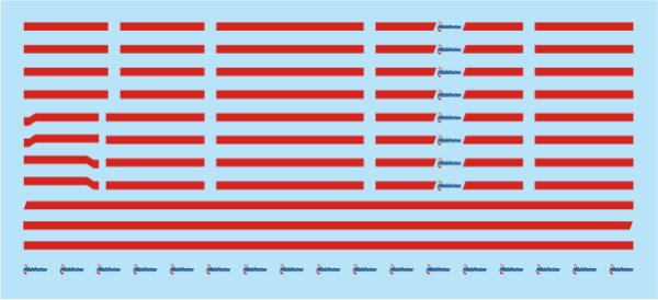画像1: 【直販限定品 1/150】 西鉄タイプ赤帯&ロゴラインデカール#2 (1)
